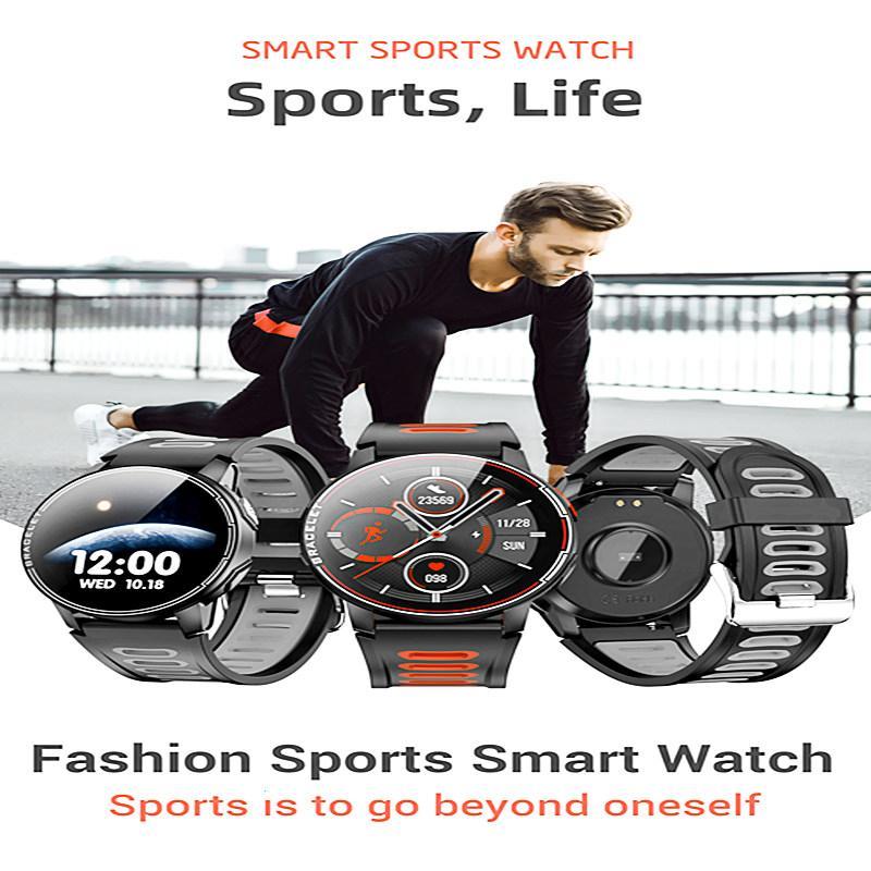 New L6 Smart Watch IP68 Waterproof Sport Fitness Tracker Heart Rate Monitor Bluetooth Men Women Smartwatch For Xiaomi Huawei