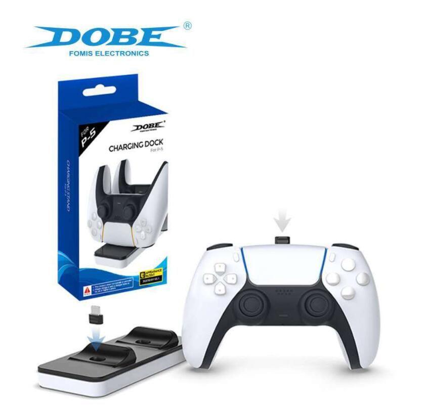 PlayStation 5 PS5 게임 컨트롤러 게임 패드 듀얼 포트 충전 도크 스탠드 스테이션 충전기 기본 크래들 홀더 PS 5 전원 공급 장치
