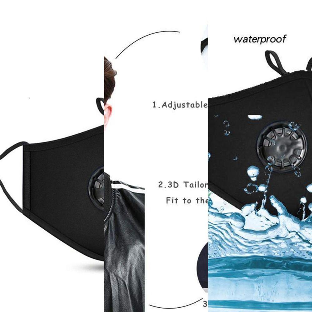 FactoryFTDucation Masken Mund mit Atemmaskenventil PM2.5 Anti-Staub-Gewebe-Maske Waschbare Maske mit FIL 1 BPGT NMLW