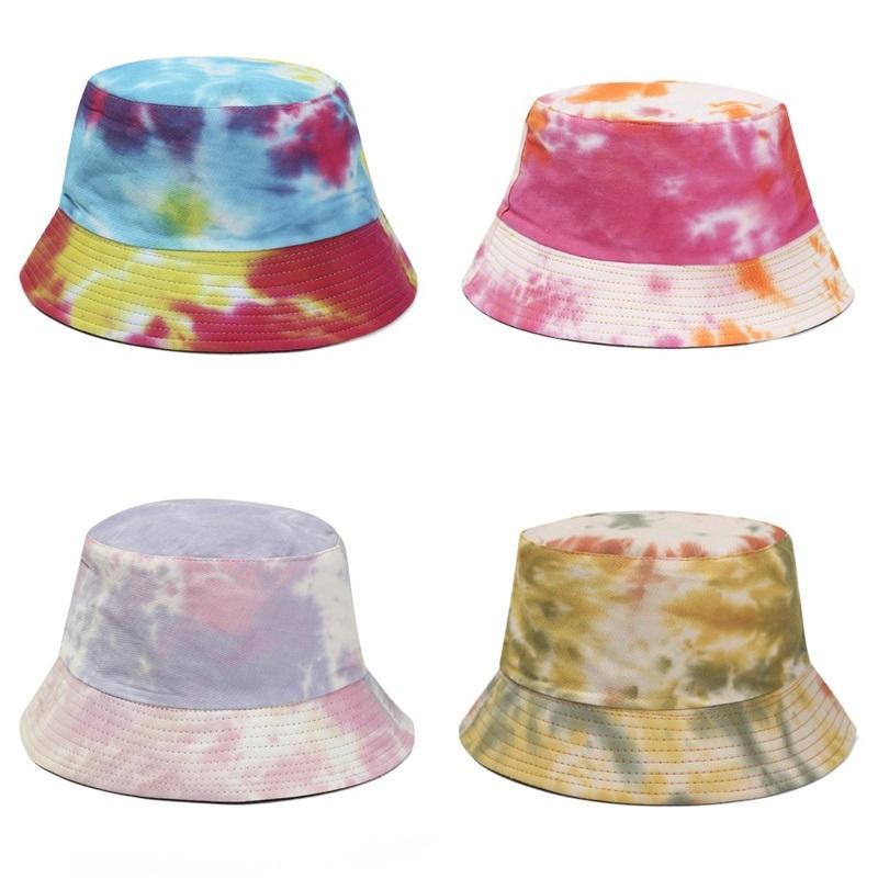 Laço tingido chapéus chapéus outdoors cor liso moda quatro estações bonés pélvico novo padrão de curso de viagem sunhat adulto 10 5yh m2