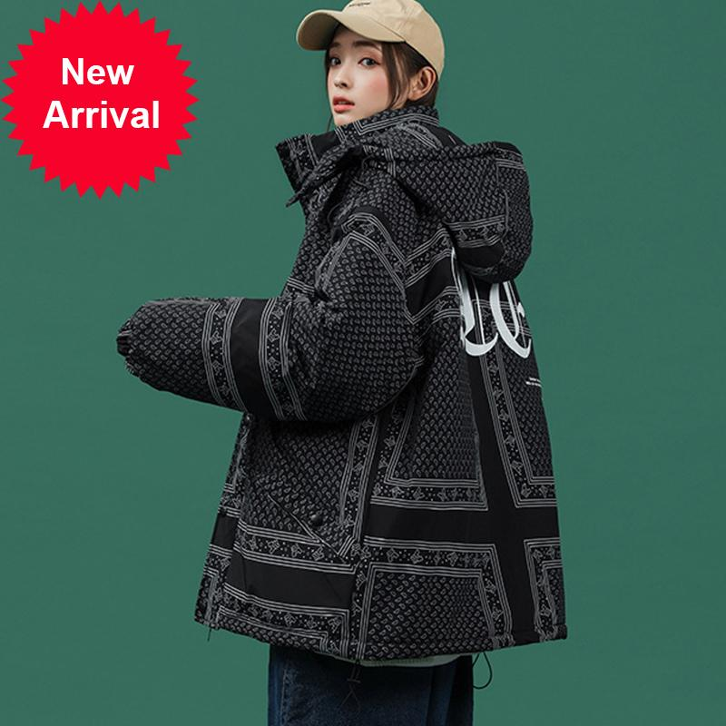 Legível 2020 Parkas feminino com capuz espessura solta casual casual casaco de inverno quente mulheres mais tamanho 4xl 5xl