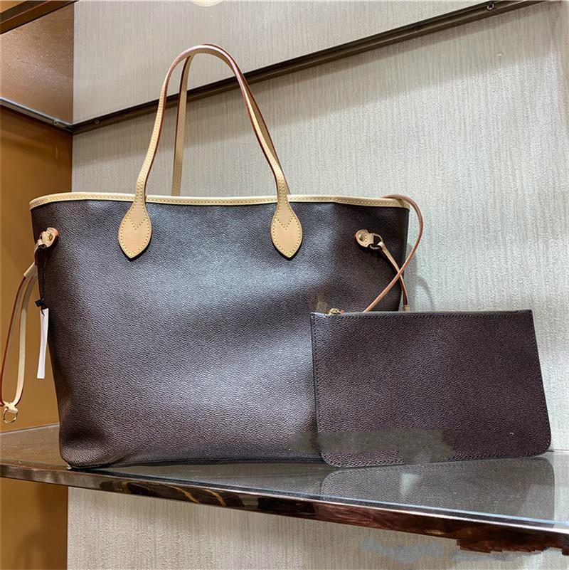 MM Größe 2 teile / satz mit Brieftasche Frauen Luxus Blume Tote Hohe Qualität Echtes Leder Mode Handtaschen Designer Composite Bags Dame Geldbörse