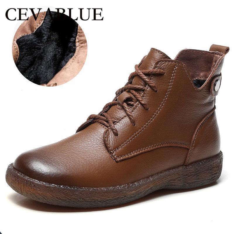 Cevabule 100% Mão Faça Botas de Couro Botas Curtas Botas Lace-Up Original Ankles Cinto Soft Buckle Sapatos LJY-1810