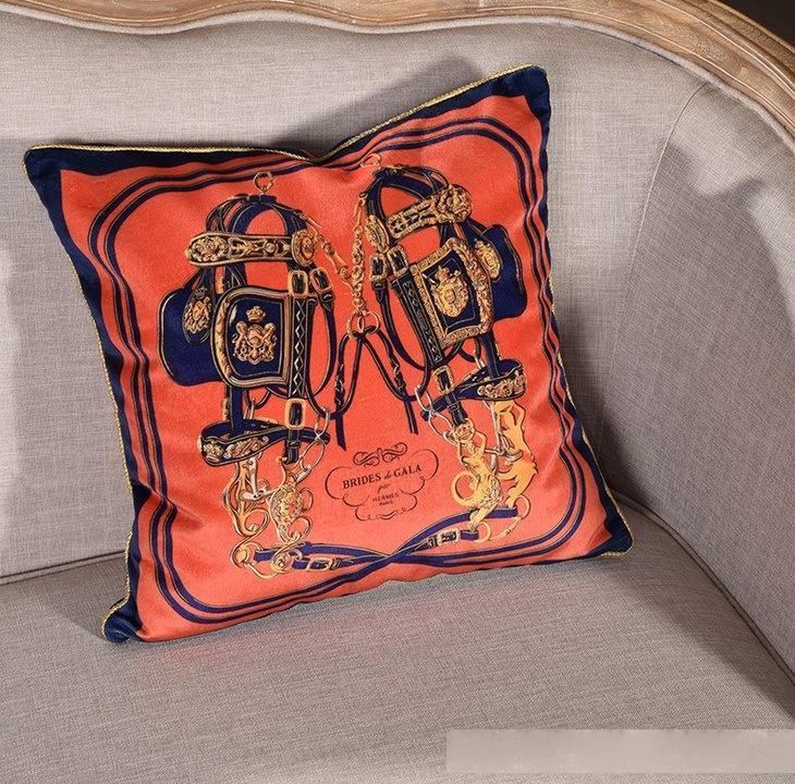 Европейский бросок подушка роскошная бархатная подушка крышка 45см декоративные кожей декоративные декораты декоративные софа Chaise Almofada