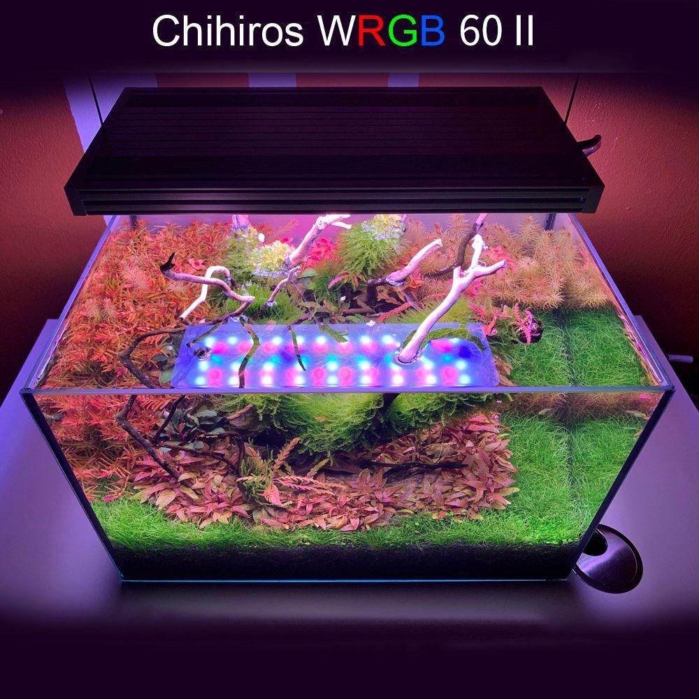 Chihiros WRGB 2 60 plantas de aquário iluminação aquáticos LEDs Simulado Sunrise Sunset aquário para Water Plant Fish Tank LED C1115