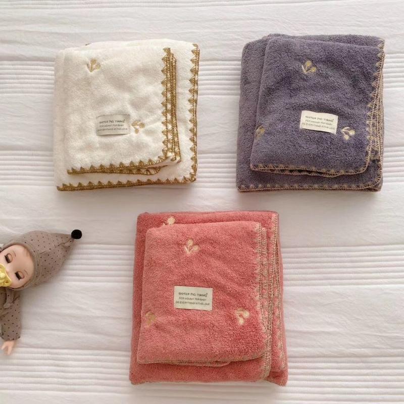 Soft and Soft Korean Inst Bathel Set de toalla de baño Toalla de baño Dos piezas Juego de playa