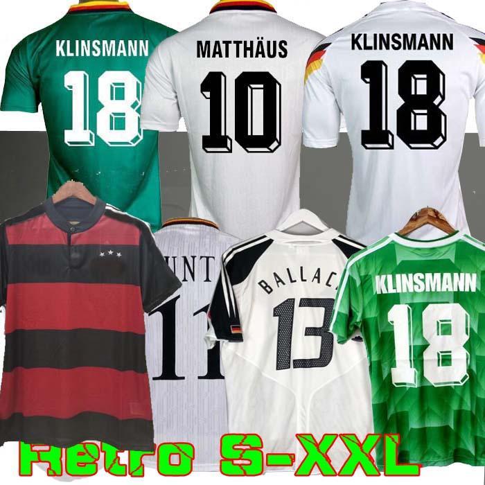 1990 1994 1988 الرجعية Littbarski Ballack Soccer Jersey Klinsmann Matthias 1998 2014 قمصان Kalkbrenner Football Jersey 1996 2004 Klose Möller