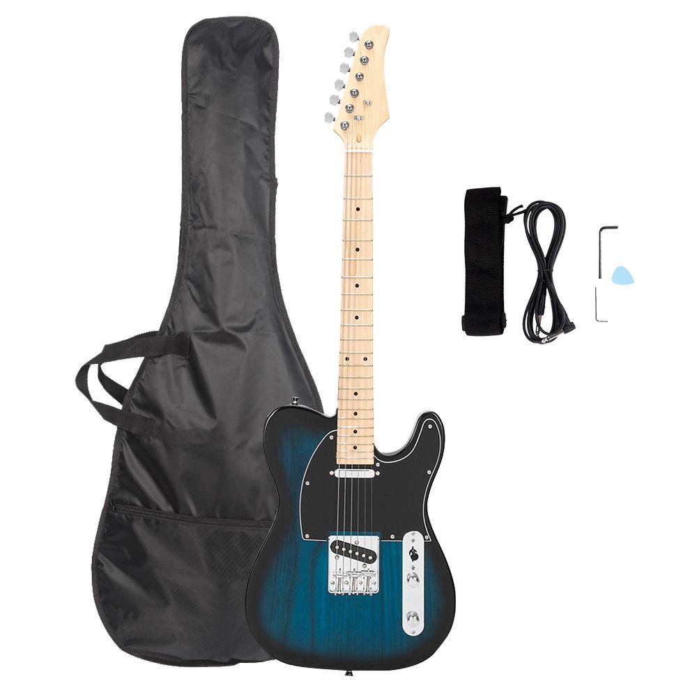 GLARRY GTL Трехсторонний коммутатор Гитара Гитара Maple Gameboard Электрическая гитара Сумка Плектрум Подключение Провода Гаечный ключ Инструмент Синий