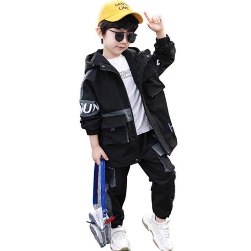 Jungen Kleidung Sportanzug Casual Jungen Kleidung Sets 2020 Neue Herbst Mode Zwei Teile Kinder Outfit Kinder Trainingsanzug Kleidung Sets Y1117