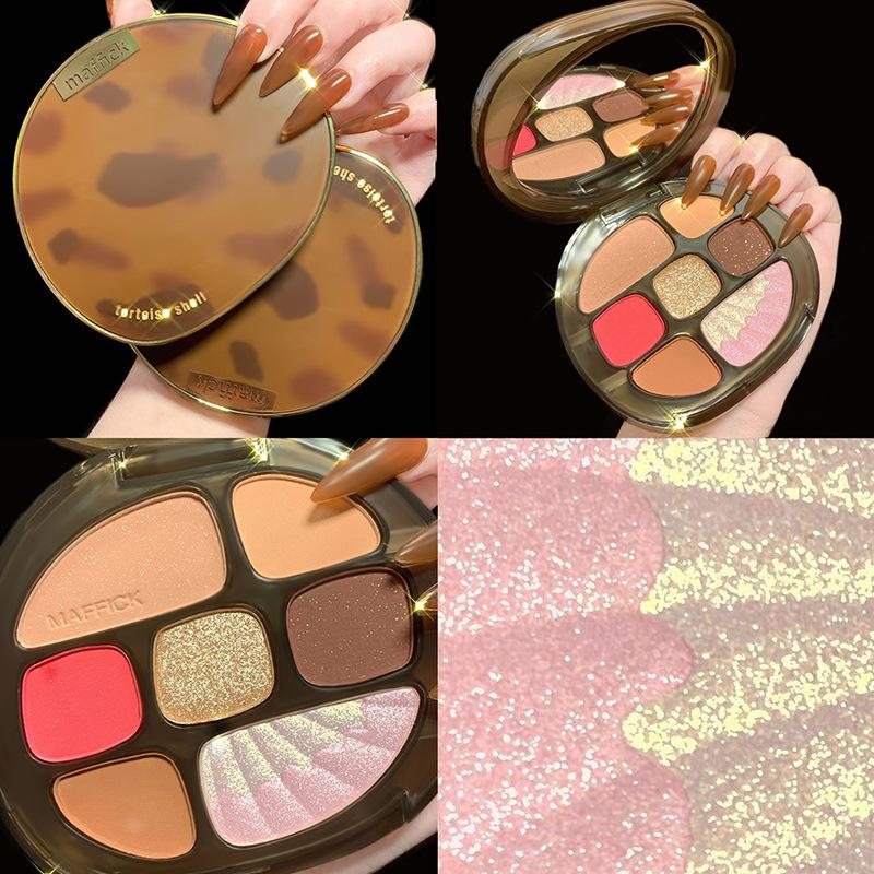 Nuomeisi Amber 8 colori Eyeshadow Palette opaco glitter scintillio Shimmer Eye Shadow Palette Eye Shadow Trucco Set