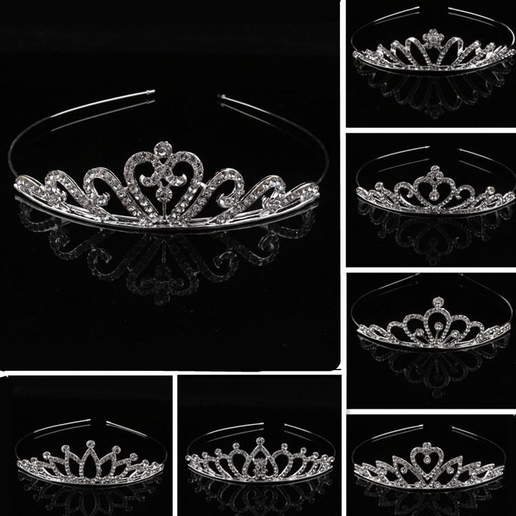 Kinder Mädchen Kristall Tiaras Crown Rhinestone Stirnband Haarbänder Baby Party Schmuck Haarschmuck Prinzessin Kristall Tiaras Kopfschmuck