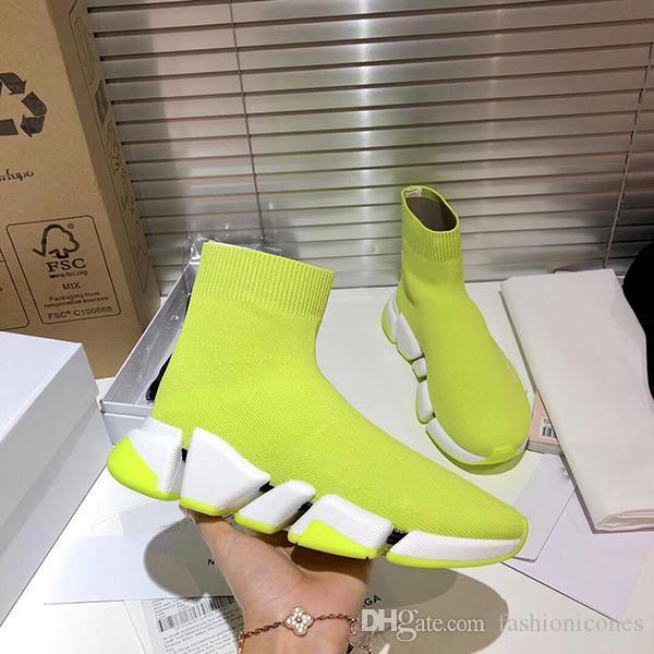 Sıcak Satış Yeni Lüks Ayakkabıcılık Rahat Çorap Futbol Ayakkabı Hız Trainer Siyah Moda Klasik Çorap Çizmeler Spor Sneakers Antrenör Ayakkabı