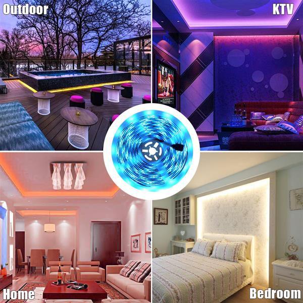 5M LED RGB полосы ленты ленты 150 светодиодов водонепроницаемая музыка синхронизация цвета изменение цвета Bluetooth контроллер 24 ключевые дистанционного управления отпуск
