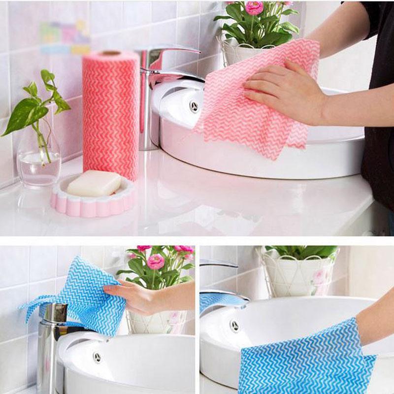 Venda por atacado pano preguiçoso limpeza pano prato descartável prato toalha absorvente água pano de cozinha de papel