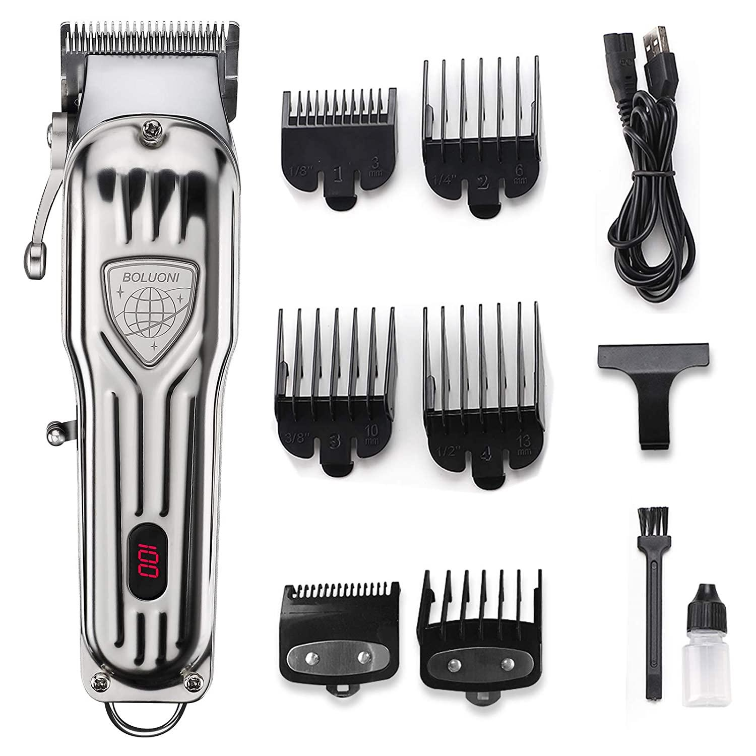 USB Rechargeable Mens Hair Clipper Professional Hair Trimmer Barber Clipper Set