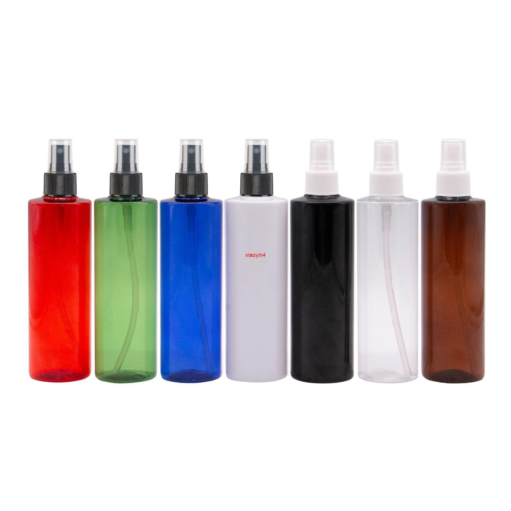 Épaule plate Pompe pulvérisateur Pompe de parfum de pulvérisation de pulvérisation de 250 ml x 12 Conteneur de couleurs avec pulvérisateur de brouillard fine pulvérisateur Cosmetic Travel BottlesBoot