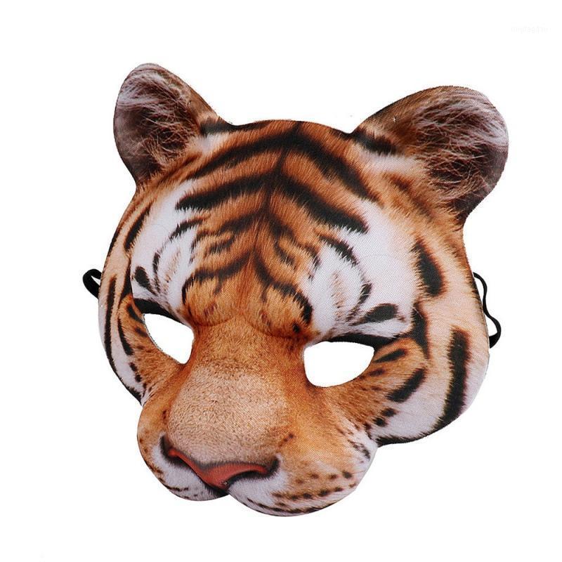 Party Masken Halloween 3D Tiger Weiße Tiger Maske Cosplay Horror Masque Dekoration Zubehör1