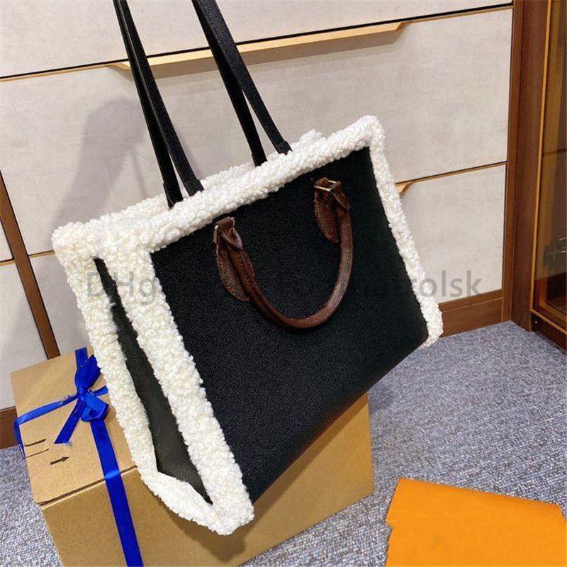 2021 Lüks Tasarımcı Lamba Kaşmir Moda Kadınlar Alışveriş Kılıf Çanta Mektubu Düz Çiçek Yapıt Hobos Moda Çanta Casual Tote