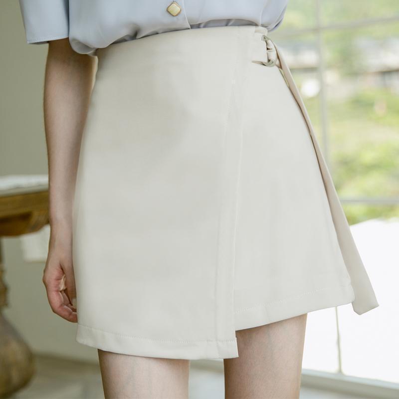 Jupe d'été Split de style coréen de style coréen Solide taille haute taille haute femme Vêtements de jeune fille Mini jupe sexy