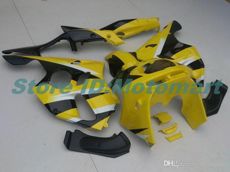 BODY PER KAWASAKI ZX 636 600CC ZX-636 1994 1995 1996 1997 ZX636 ZX-6R ZX600 ZX 6 R 6R ZX6R 94 95 96 97 Giallo Black Fairings