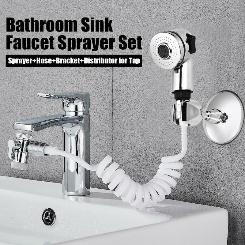 Küchenarmaturen Badezimmer Waschbecken Wasserhahn Spritzwasser Wasserhahn Verlängerungsdüse Verstellbare Dusche Set Belüfter Kopf Selbstreinigungswerkzeuge
