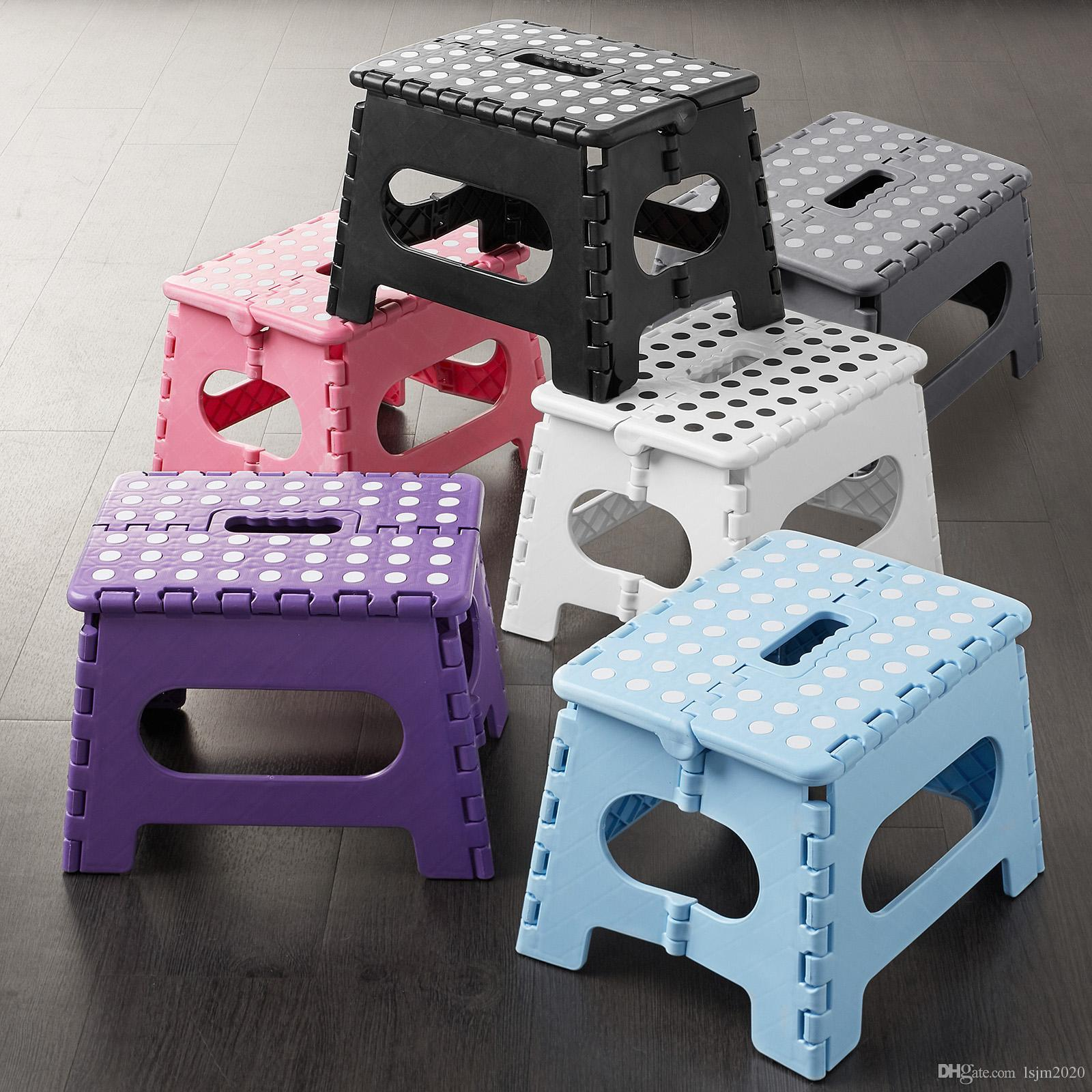 """9 """"Складной складной пластиковый кухонный стул стул стул с ручкой - взрослые / дети"""