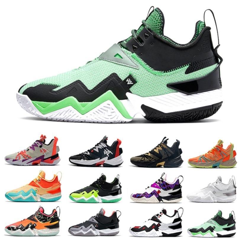 Yeşil 3,0 tek almak erkek basketbol ayakkabıları temiz beyaz neon mango Westbrook Rage neden olmasın zer0.3 erkek eğitmenler spor ayakkabı 40-46