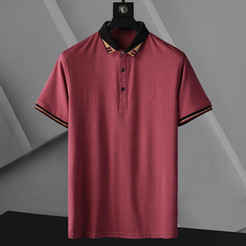 Moda Mens Polos High Street Casual Manica Corta Designer Designer Polo Camicie da uomo Polos Casual Mens Polo Camicie T Shirt