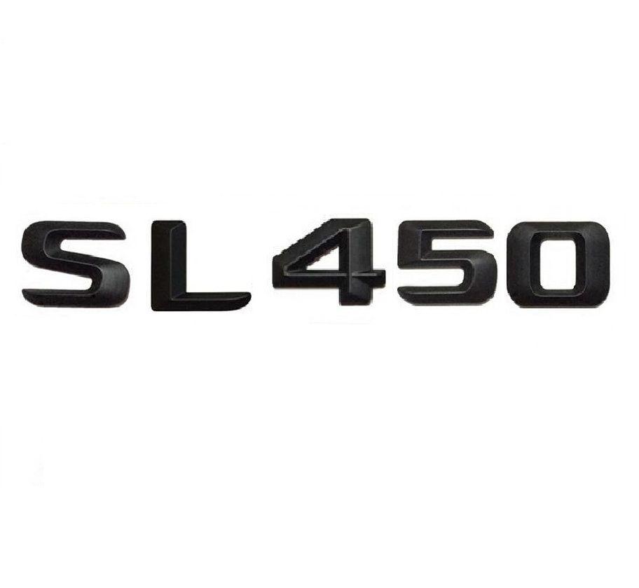 """Matt Noir """"SL 450"""" Tronc de voiture Lettres Arrière Mots Numéro Badge Emblem Decal Autocollant pour Mercedes Benz SL Classe SL450"""