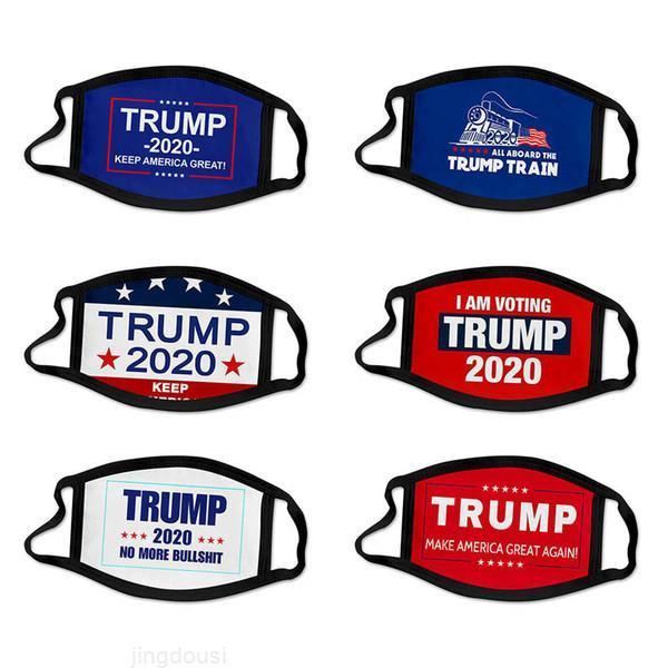 Grand masque DHL Trump Cotton Expédition Garder America 2020 Élection à nouveau Noël creux Cosplay Cosplay Biden Party Fête Masques anti-poussière Bouche CMN
