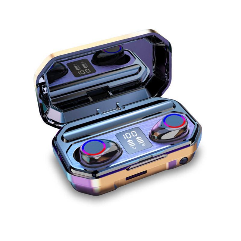 TWS Беспроводная Bluetooth-гарнитура M12 Bluetooth 5.0 Водонепроницаемая и защита от пота стерео можно использовать в качестве фонарика, Светодиодный зарядки зарядки 200