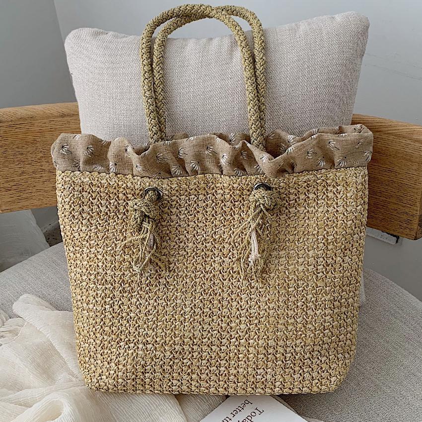 Straw Beach Handmade Women Woven Handbag Shoulder Luxury Large Fashion Bag HBP Summer Handbags Bags Designer Borsa Mare Qqcqu