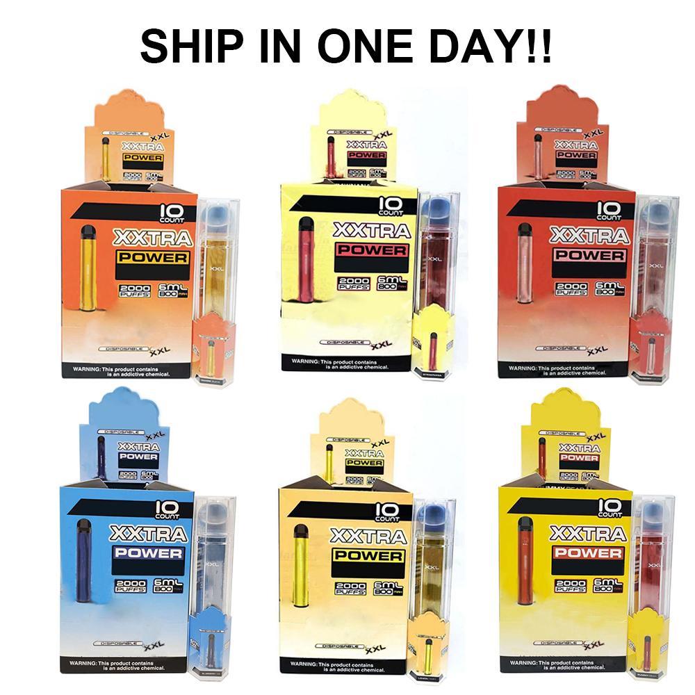 Bang XXL Disposable Vape Device 800mAh Batterys 6ml Pods Empty Vapors 2000 Puffs Bang XXtra Kit VS Bang XL xtra