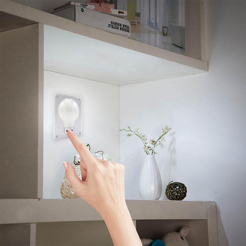 COB-Lampe LED-Nachtlicht Multifunktionsmagnet Adsorption Typ Schrank Schrank Korridor Light White Battery Netzteil (ohne Batterie)