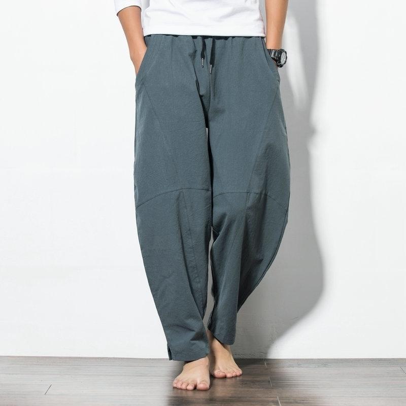 Vente chaude printemps hip hop harember pantalons hommes décontractés pantalons en vrac cordon de cordon de cuisson noir pantalon noir plus taille m-5xl 201116