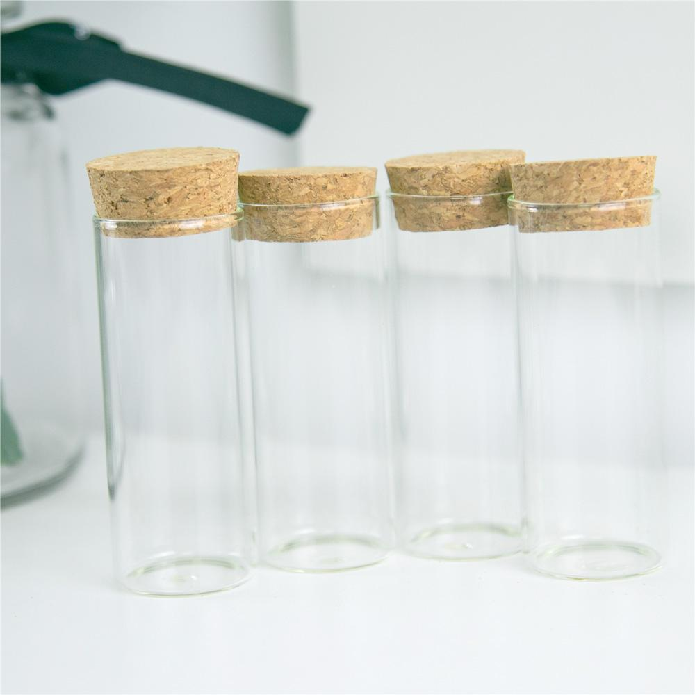 50PCS 35CC البسيطة لطيف زجاجي زجاج أنبوب اختبار مع الفلين زخرفة الحرف اليدوية هدايا العطور زجاجات قوارير كاندي الجرار قابلة لإعادة الاستخدام