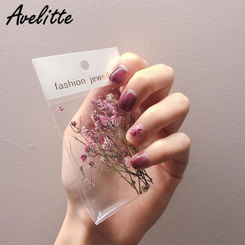 Avelitte neue Nägel Getrocknete Blumen Ins Wind Sommer Lehrer Herbst und Winter Nageldekoration Kreative DIY Material