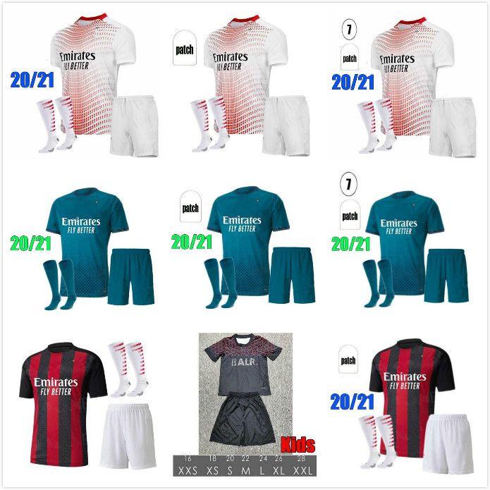 2020 AC Milan IBRAHIMOVIC soccer jersey adult kit 120th Anniversary Edition PAQUETA ROMAGNOLI PIATEK football shirts Camisa AC Milan 20/21