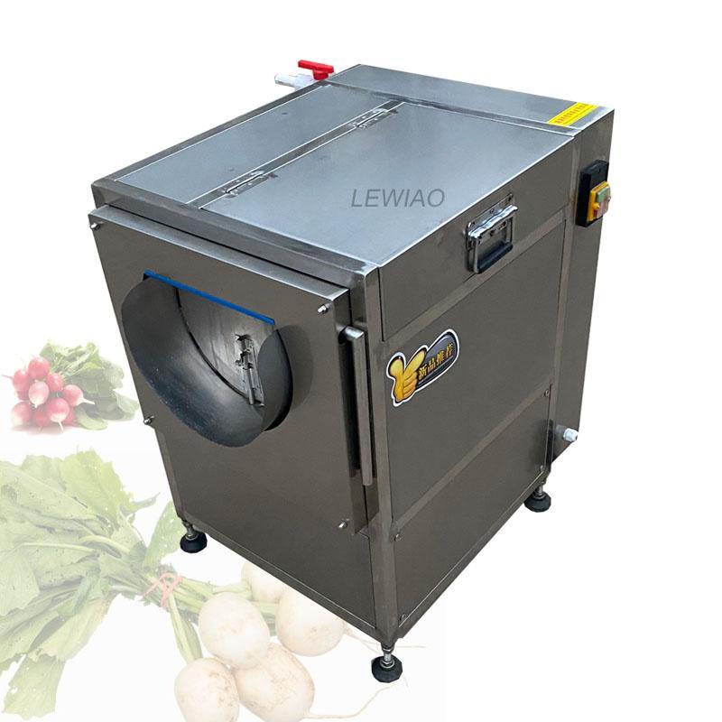 2021 Fabrikpreis Hochleistung Frischer Ingwer Waschmaschine Gemüse Obst Waschen Peeling Maschine Gemüse Waschen Peeling Machine