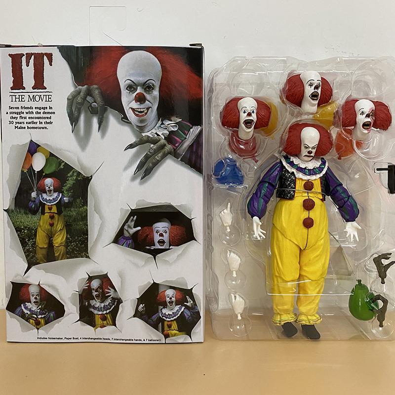 Neca It pennywise action figure joker stephen king it clown figures giocattoli giocattoli regalo figura pennywise per halloween horror regalo 18 cm 201021