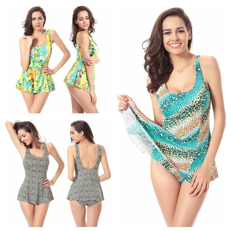 Weibliche neue Split Cover Bauch Strand Bademode Womens Sammeln einteiliger Badeanzug Mode Trend Plus Größen Sling Rock Swimwear Sommer