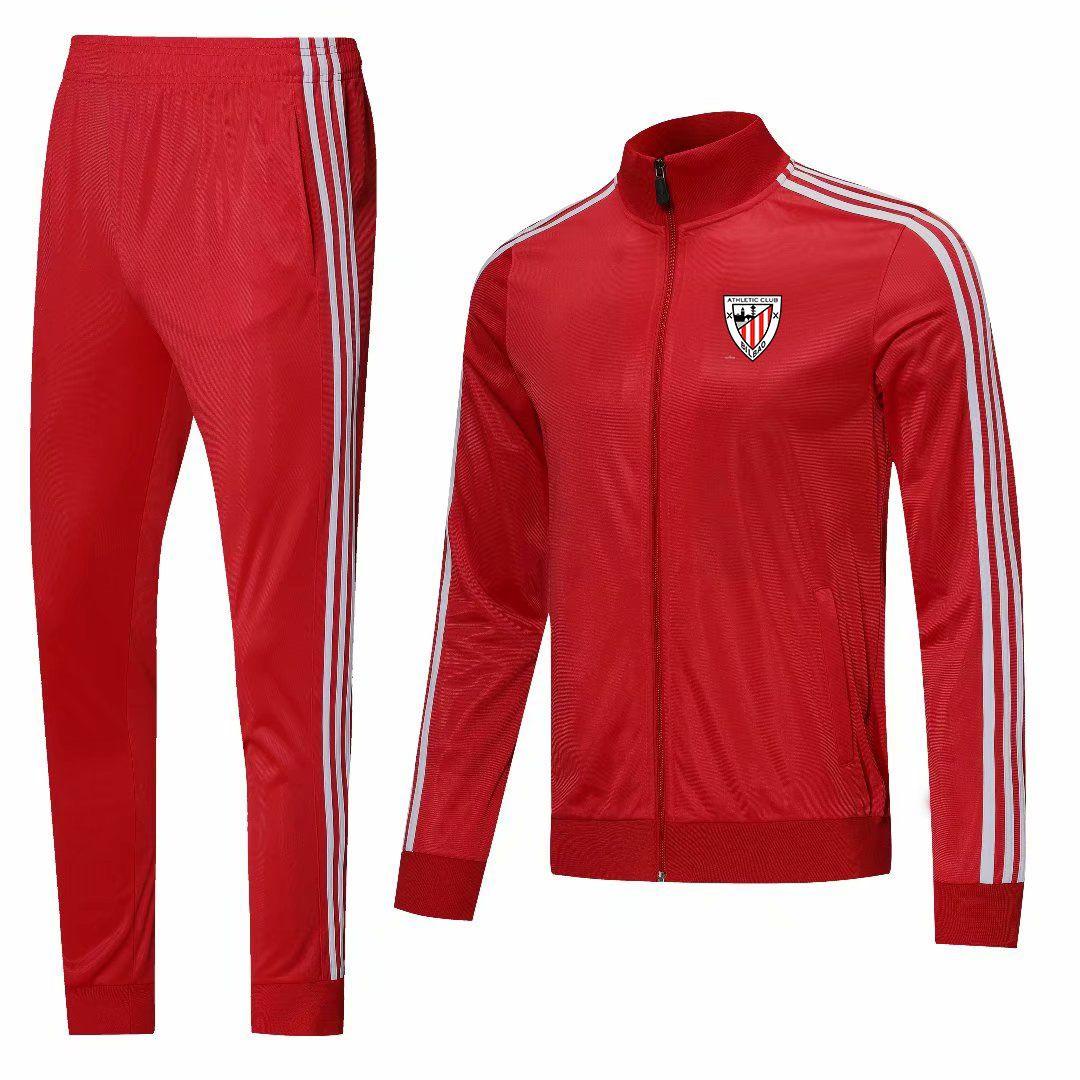 Athletic Bilbao Männer Fußball Jersey Erwachsene Fußball Kleidung Set Laufjacken Sport Langarm Jacke Football Training Uniformen