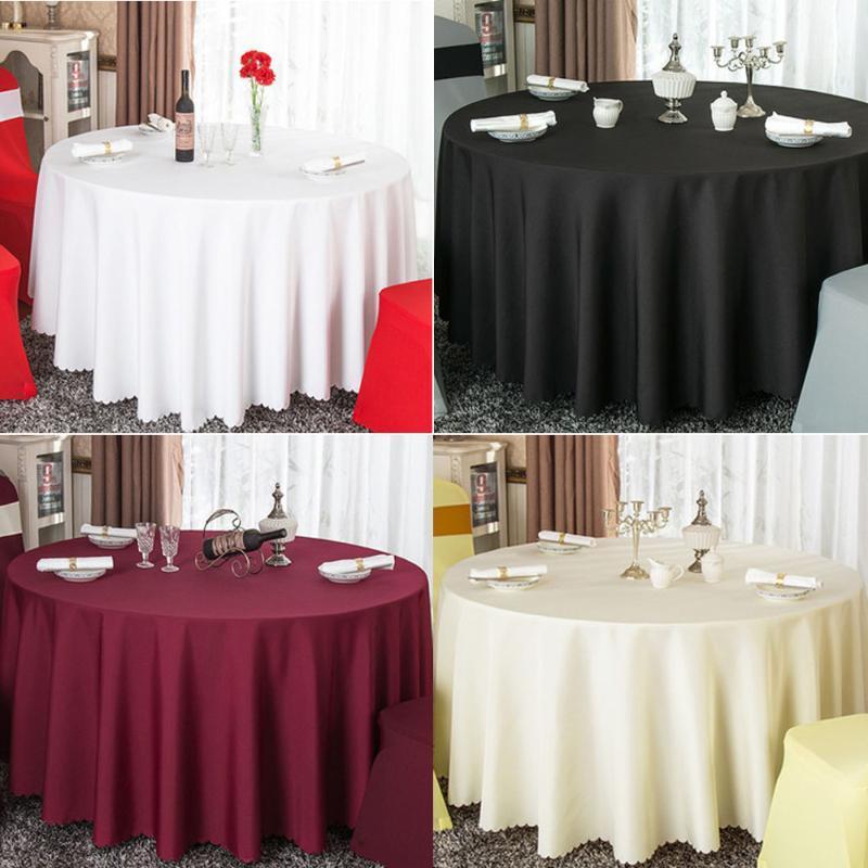 Банкетный оформление оформления отель Отель круглая партия конференция Белая церемония столба отбрасывает черный стол Свадебная скатерть ресторан ткань UOJPM