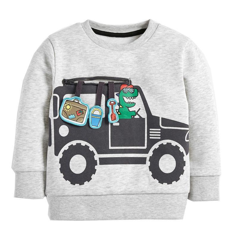 Erkek Tişörtü Sonbahar Kış Uzun Kollu Araba Tops Erkek Giyim Çocuk Dış Giyim Çocuk Kazaklar Toddler Pamuk Kazak 201216