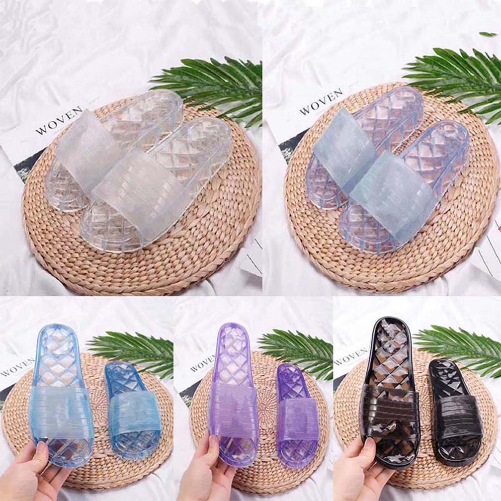2021 Vendi bene Moda Donne Donne Pantofole trasparenti Sandali Sandali Slifts Summer Appartamenti Sandali Sexy Sandali Piatti Scarpe da donna Scarpe da spiaggia da Shoe008 01