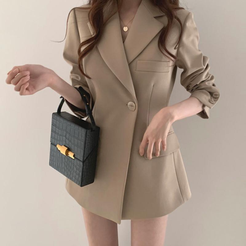 2020 Giacca da donna Goddess Fan New Net Red Casual Temperament Temperament Piccolo vestito Coreano Chic Port Style Style Suita Stile allentato