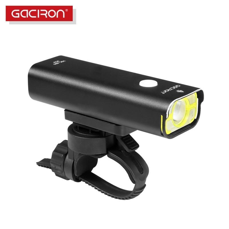 Gaciron IPX6 ماء الدراجات رئيس ضوء الشعلة 800lm usb قابلة للشحن دراجة الجبهة ضوء الطريق الدراجة mtb المقود مضيا 201030