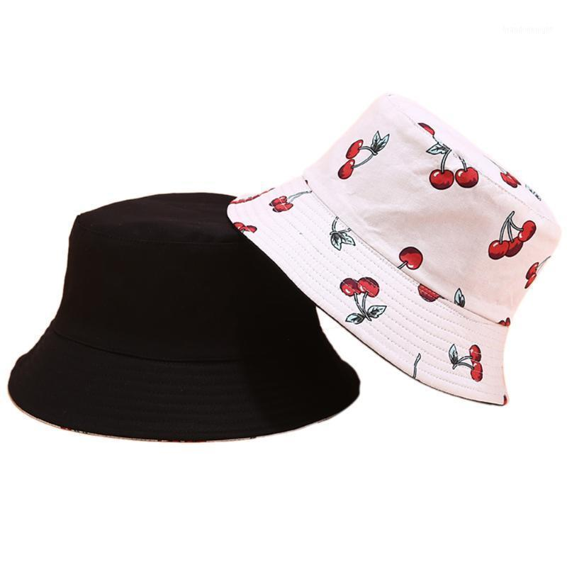 Men Women Summer Travel Casual Fashion Beach Soft Bucket Hat Dual Use Fruit Printed Cotton Blend Protection Outdoor Portable1