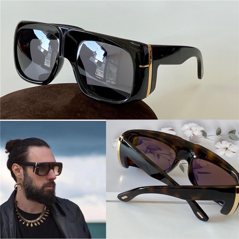Nuevo diseño UV400 Square 733 Frame Gafas de sol Estilo Venta Marco Avant-Garde Top Top Top Unisex Placa protectora de calidad Gafas de moda KCQM