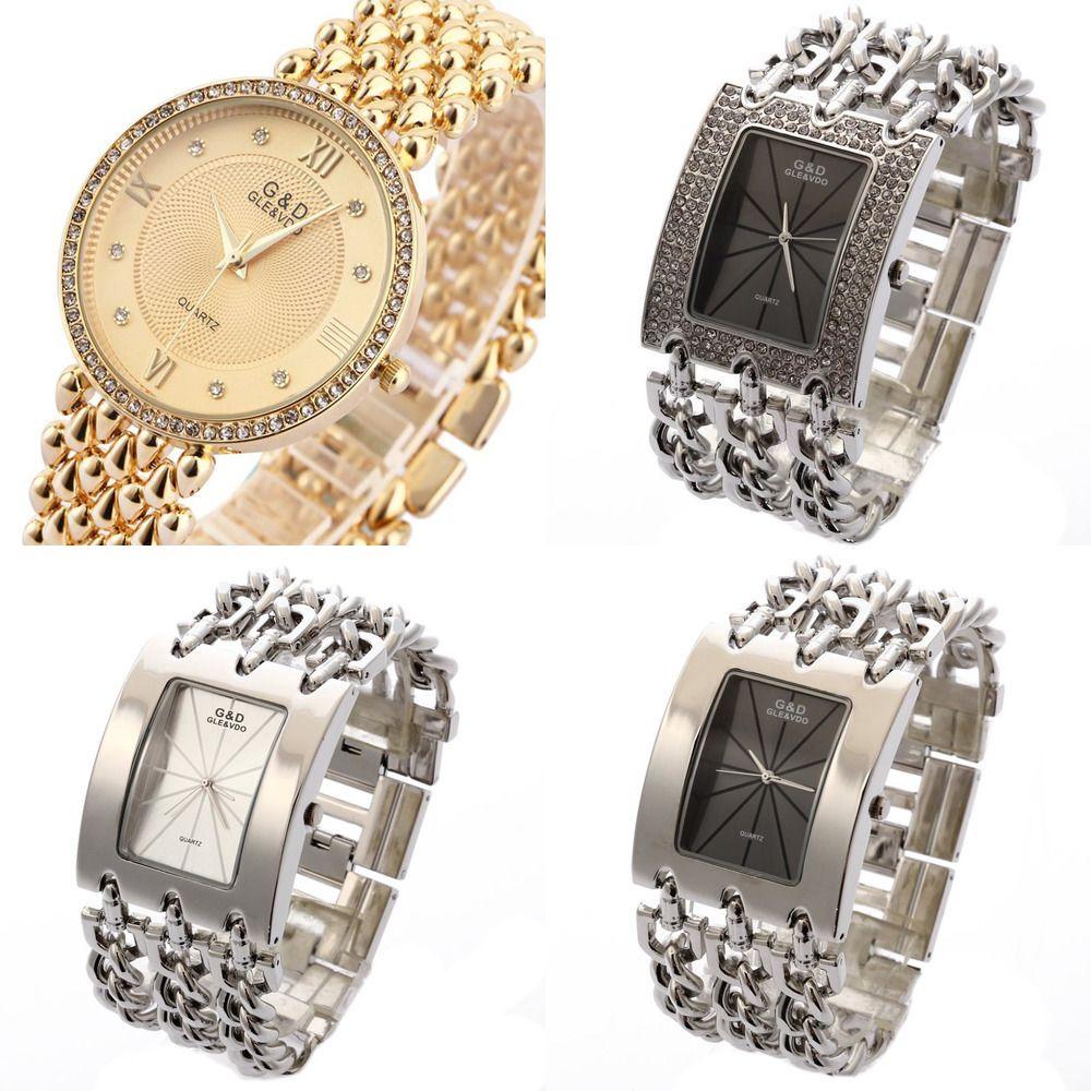GD top marca mulheres luxo mulheres relógios de relógios de quartzo relógio senhoras pulseira relógio vestido relogio feminino saat presentes reloj mujer j1205